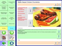 Ecrã táctil p/ adaptação de Living cookbook